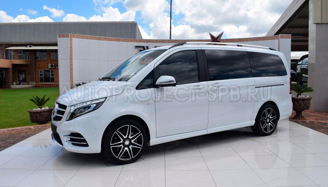 Mercedes-Benz V-Class White - Аренда минивэна с водителем в Санкт-Петербурге от Autoproject VIP