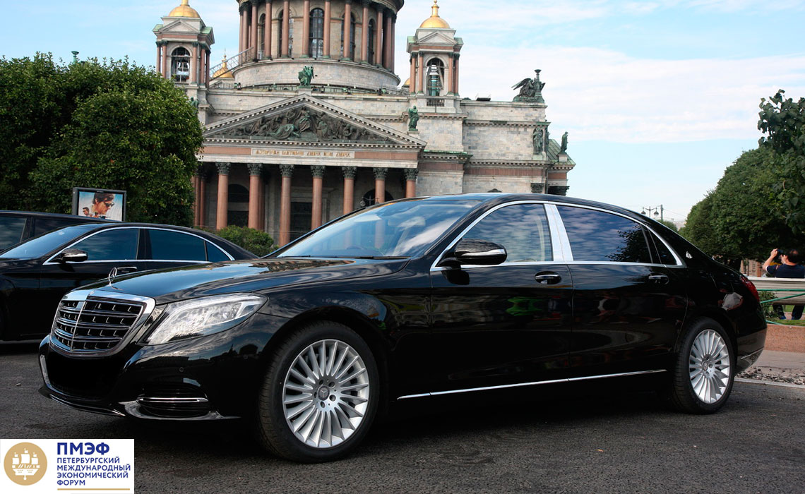 Аренда Mercedes-Maybach S500, S600 на ПМЭФ с водителем