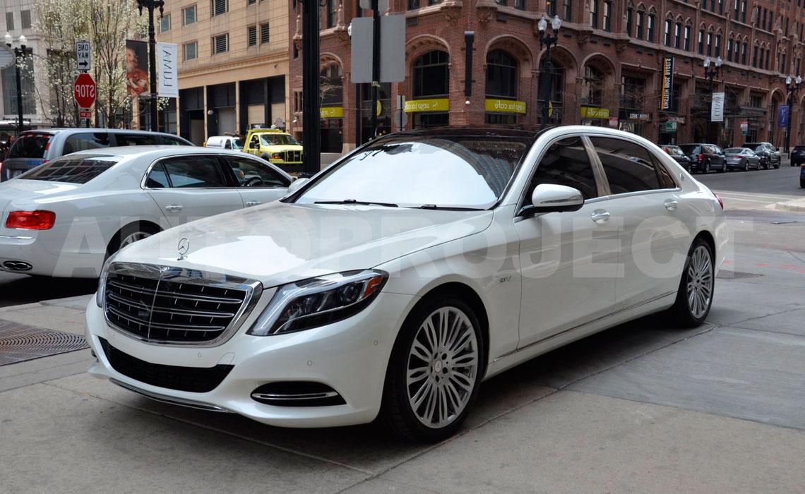 Аренда Mercedes-Maybach белого цвета на свадьбу с водителем в СПб от Autoproject